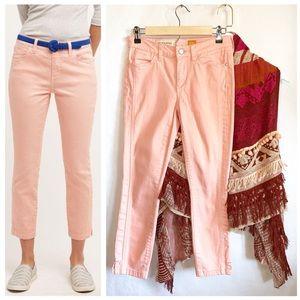Pilcro & The Letterpress Peach Crop Jeans